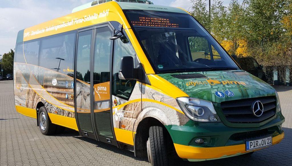 Der Citybus Pirna im Sandstein-Look
