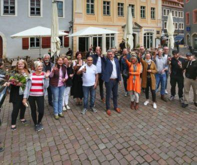 Pirnas Gastronomen stoßen auf die ersten Gäste an_Stadt Pirna