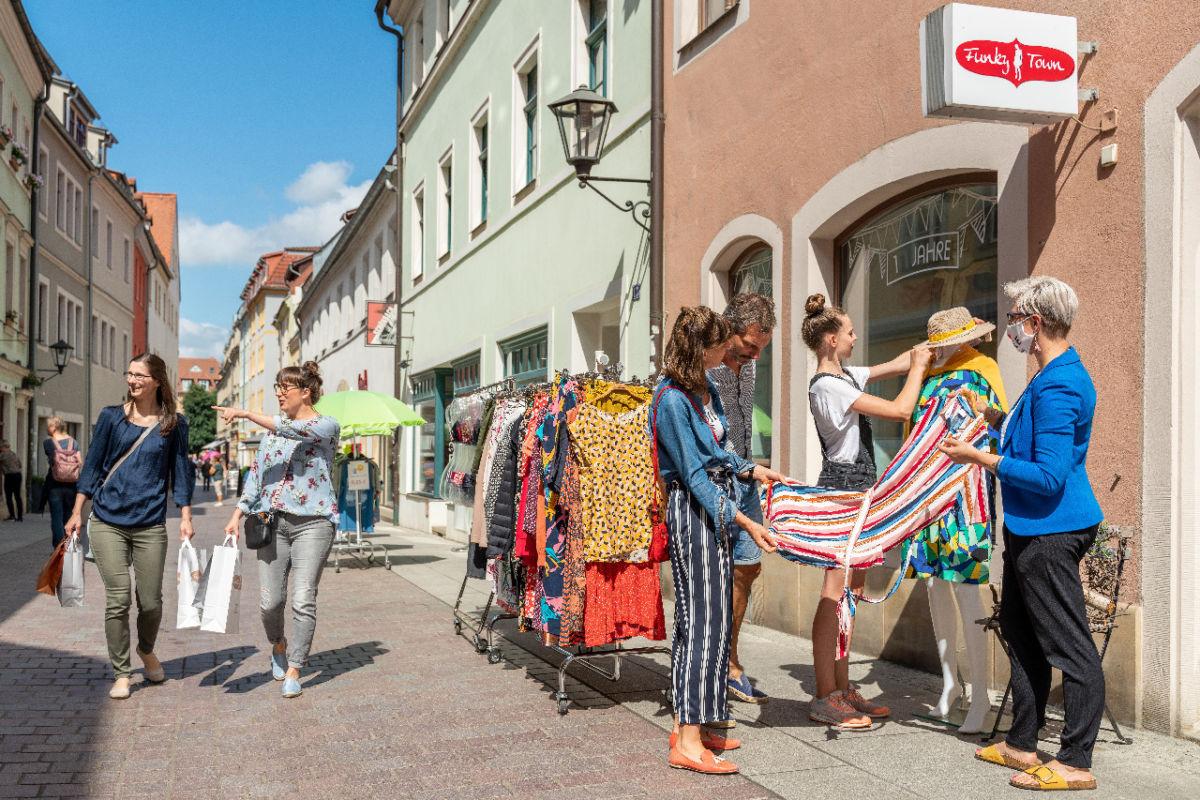Shopping in Pirna - Sommer 2020