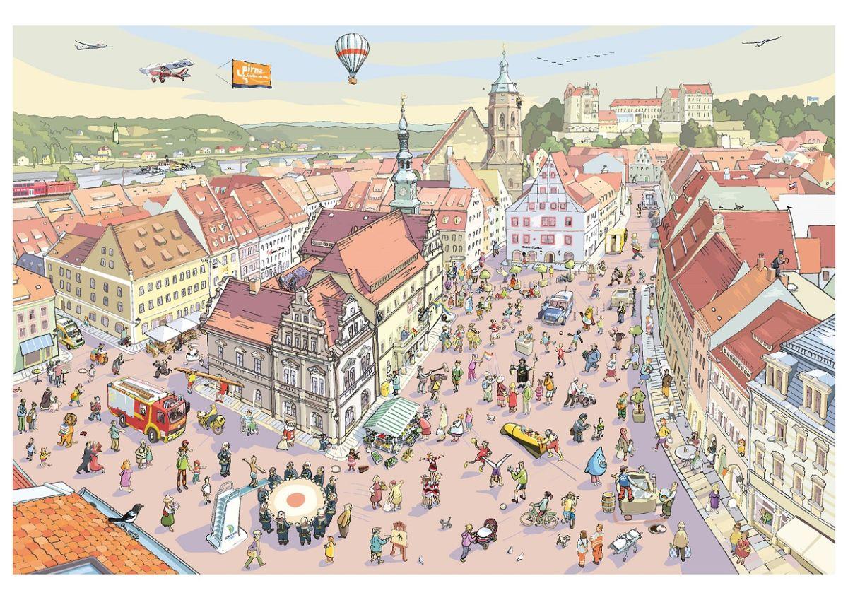 Wimmelbild_Stadt Pirna